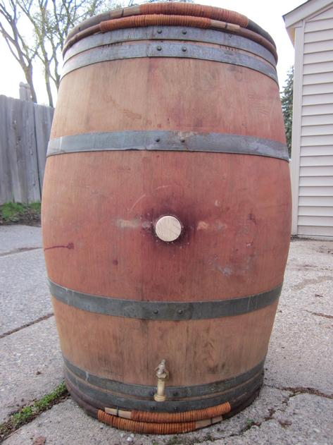 Premium Rain Barrel made from used wine barrels in MN